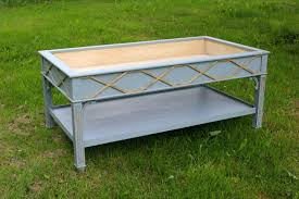 display coffee table with glass top bed u0026 shower elegant
