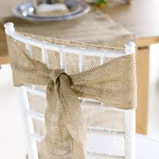 chagne chair sashes 5pcs naturally burlap chair sashes jute chair tie bow for