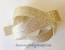 gold glitter ribbon glitter ribbon shimmer and sparkle ribbon 5 yards 7 8 inch wide