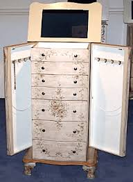 White Vintage Armoire Antique Jewelry Armoire With Mirror Style Guru Fashion Glitz