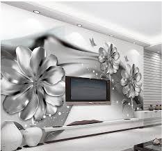 Wallpaper For Living Room Online Get Cheap Black Flowers Wallpaper Aliexpress Com Alibaba