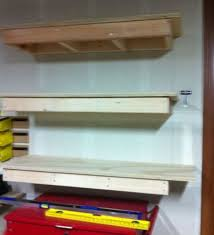 Free Standing Garage Shelves Plans by Build Easy Free Standing Shelving Unit For Basement Or Garage