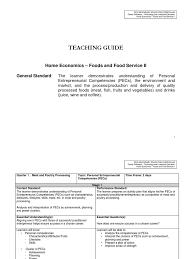 tle he foods entrepreneurship educational assessment