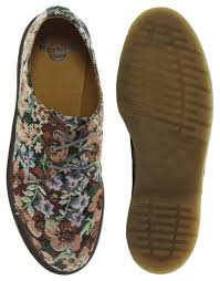 Dr martens tapestry shoes in brown for men lyst