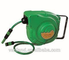 wall mounted automatic retractable water garden hose reel with