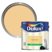 dulux butter biscuit silk emulsion paint 2 5l departments diy