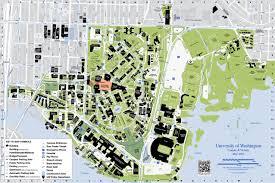 Columbia University Campus Map Campus Map Uw University Of Washington Campus Map Washington Usa