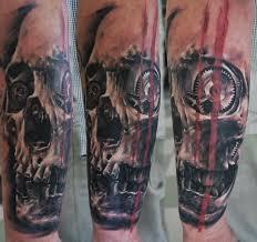 skull and elements of biomechanics skull tattoos