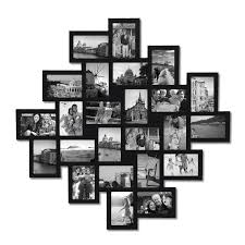Picture Frame On Wall by Amazon Com Adeco 24 Opening Black Wood Wall Hanging Collage
