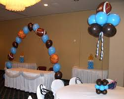 sports themed baby shower decorations sports balloon decorations am s baby shower ideas