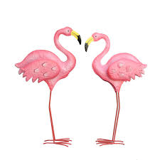 wedding arch ebay au 2 x pink flamingos metal yard garden lawn ornaments wedding