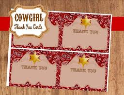 cowboy cowboy birthday thank you cards western
