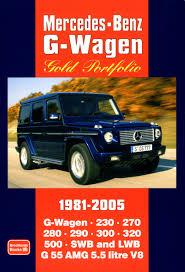 mercedes benz g wagen gold portfolio 1981 2005 r m clarke