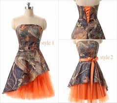 aliexpress com buy newest short orange camo junior bridesmaid
