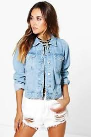 light wash denim jacket womens boohoo womens cindy light wash denim jacket ebay