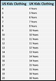 shoe size chart india vs uk us uk clothing and shoe size conversion chart