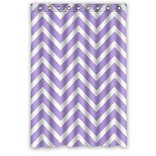 White And Purple Curtains Amazon Com Chevron Shower Curtain Light Purple Lavender And