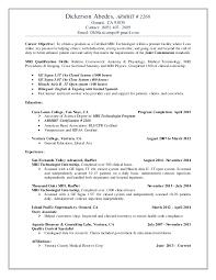 Mri Technologist Resume Dickerson Abedes Armrit 2268 Resume