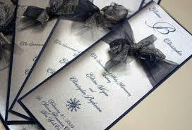 winter wedding programs blue silver ceremony programs winter wedding flowers photos