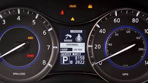 infiniti dashboard warning lights 2017 infiniti qx80 warning and indicator lights youtube