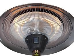 fire sense halogen patio heater brushed copper colored halogen patio heater