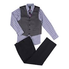 dockers boys u0027 dress shirt pants vest u0026 necktie herringbone