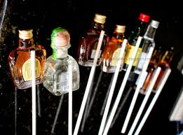liquor gift baskets mini bottle of liquor on dowels to make a gift basket baskets to