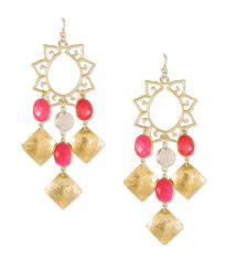 gold chandelier earrings ruby and gold chandelier earrings leigh