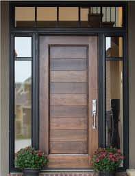 example of custom wood door with glass surround interior barn
