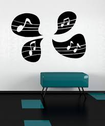 vinyl wall decal sticker music note speech bubbles os mb1245
