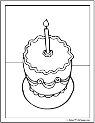 birthday coloring pages customizable 22282 bestofcoloring