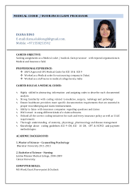 Sample Resume For Medical Billing And Coding by Resume Medical Coder