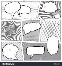 comic book page template halftone effect stock vector 611175287