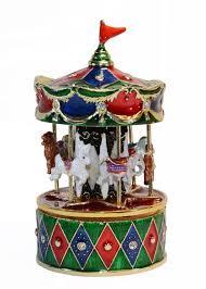 luxury music box swivel carousel musical box birthday valentine u0027s