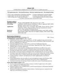 download windows server administrator resume sample