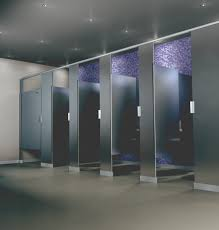 Solid Plastic Toilet Partitions Scranton Products Hiny Hider Toilet Partition Shown In Stainless