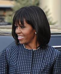 ms obamas hair new cut michelle obama s hair at the 2013 inauguration shiny strands