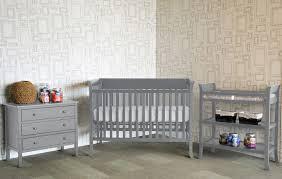 bedroom design gray munire crib with nightstand on laminate wood