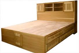 King Size Headboard With Storage Pedestal Beds