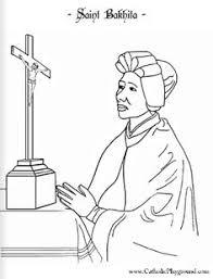 saint josephine bakhita catholic coloring feast