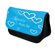 pretty hearts personalised make up bag perfect gift idea for her