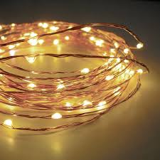 120 warm white led string lights wire electric 20