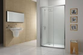 center sliding shower door 1000mm chrome clear plumb center