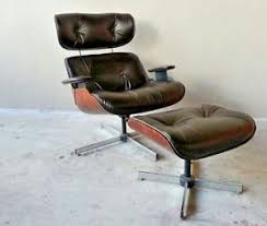 Chair W Ottoman Vintage Original 60 S Plycraft Eames Chair W Ottoman New Leather