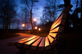Bench Photography Wallpaper Parks Bench Night Cities