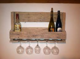 Under Cabinet Wine Racks Small Reclaimed Wood Pallet Wine Rack Wine Glass Holder Under