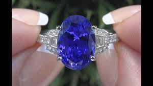 tanzanite blue rings images Gia certified violet blue tanzanite diamond cocktail ring 18k jpg