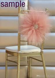 chagne chair sashes 2015 tulle 3d flower chair sash sle 2015 wedding accessories