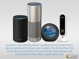 amazon home amazon adds echo plus echo spot to alexa controlled smart device line