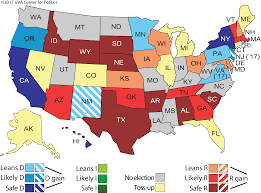 The Wave Arizona Map by Larry J Sabato U0027s Crystal Ball Governors 2017 2018 The